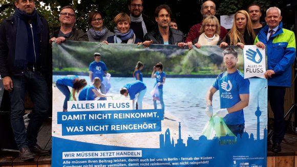 """""""Alles im Fluss"""" will ab sofort gegen die Vermüllung der Berliner Gewässer vorgehen. ©Alles im Fluss"""
