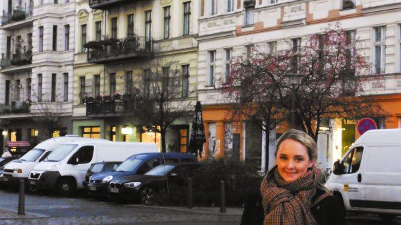 Anne-Catrin Märzke im Teutekiez.(c) S. Maaß