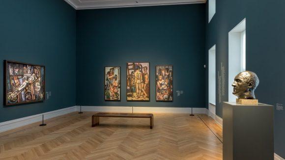 Auch nackte Tatsachen gibt es bei Beckmann zu sehen. ©Museum Barberini/Helge Mundt