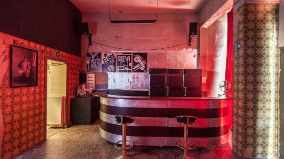 Eine Innenansicht der Bar