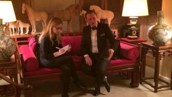 Beim Interview. (c)n-tv