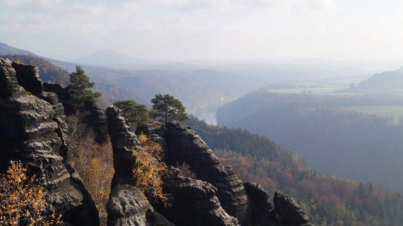 Berge im Nationalpark Sächsische Schweiz. ©Sarah Hoffmann