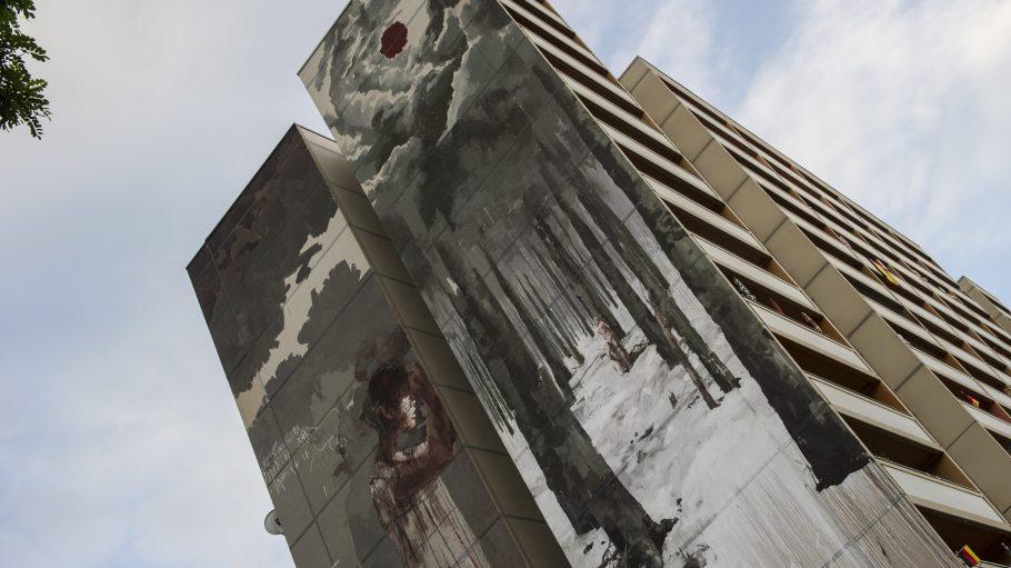 Zu düster? Borondo erklärt, warum er das Unverständnis für sein Wandgemälde in Tegel schade findet.