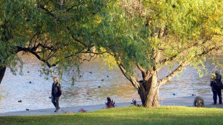 In den Berliner Parkanlagen, wie hier im Britzer Garten, können die Besucher das ganze Jahr hindurch die Ruhe zwischen alten Bäumen und Blumenbeeten genießen.