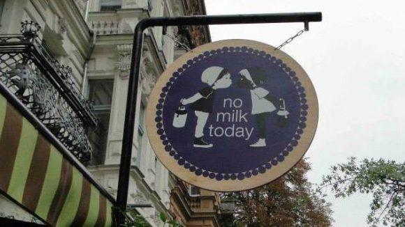 "Neu im Graefekiez: Das ""No Milk Today""."
