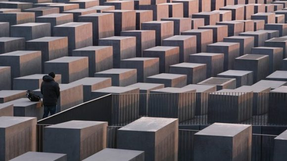 Das Stelenfeld des Denkmals für die ermordeten Juden Europas.