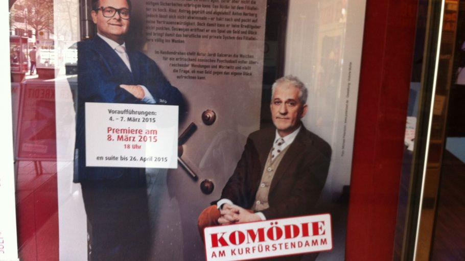 """Leserreporterin Doris Sommerer ist begeistert von """"Der Kredit"""" in der Komödie am Kurfürstendamm. Das Stück läuft noch bis zum 26. April 2015."""