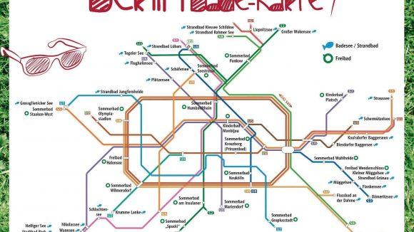 Die Berliner Bade-Karte von Visit Berlin.