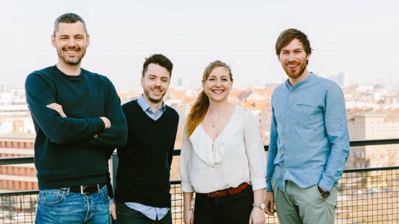 Die Gründer des Start-ups: Sebastian Stricker, Ben Unterkofler, Iris Braun und Tobias Reiner. ©Gene Glover