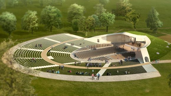 Die neue Freilichtbühne hat die Form eines Amphitheaters. ©Architekturbüro Paul Böhm
