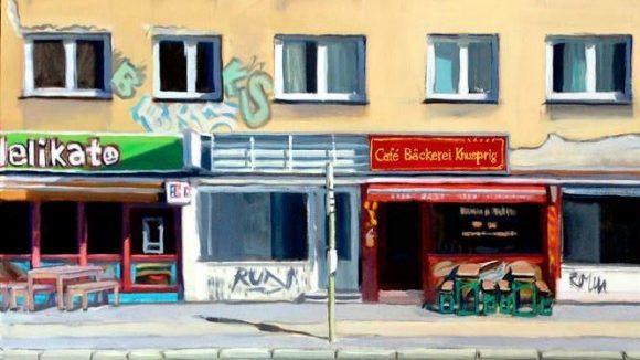 """Diese Falckensteinstraße inspiriert von Hoppers Bild """"East Wind Over Weehawken"""". ©William Wires"""