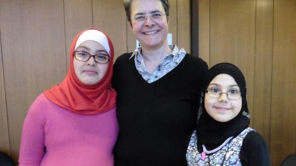 Donja, Monika und Rayan (v.l.) Kiezdetektive 2015