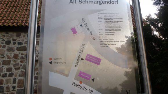 Eine Karte zeigt den weg um die Gemeinde an (c) Cox