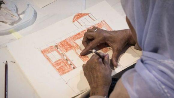 Malen, was bewegt: Die Teilnehmer an den Workshops konnten kreativ ihre Gefühle zum Ausdruck bringen.