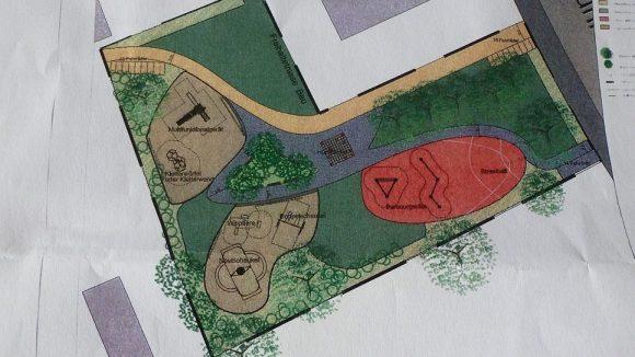 So sieht die Skizze des geplanten Spielplatzes auf der Einladung zur Infoveranstaltung aus.