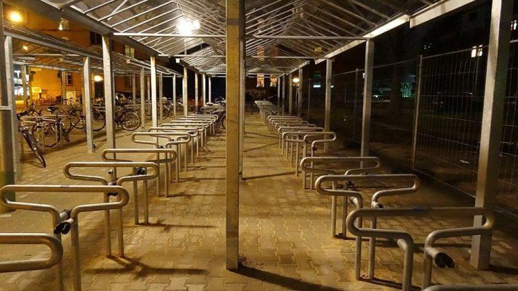 Bis zu 182 Fahrräder haben hier Platz.