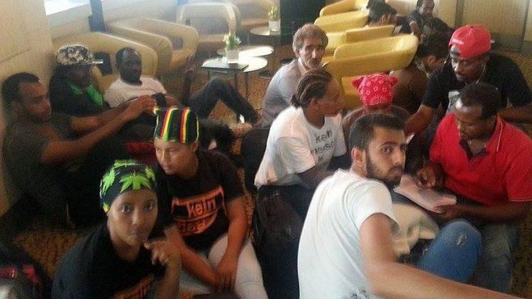 Flüchtlinge besetzten gestern den Fernsehturm.