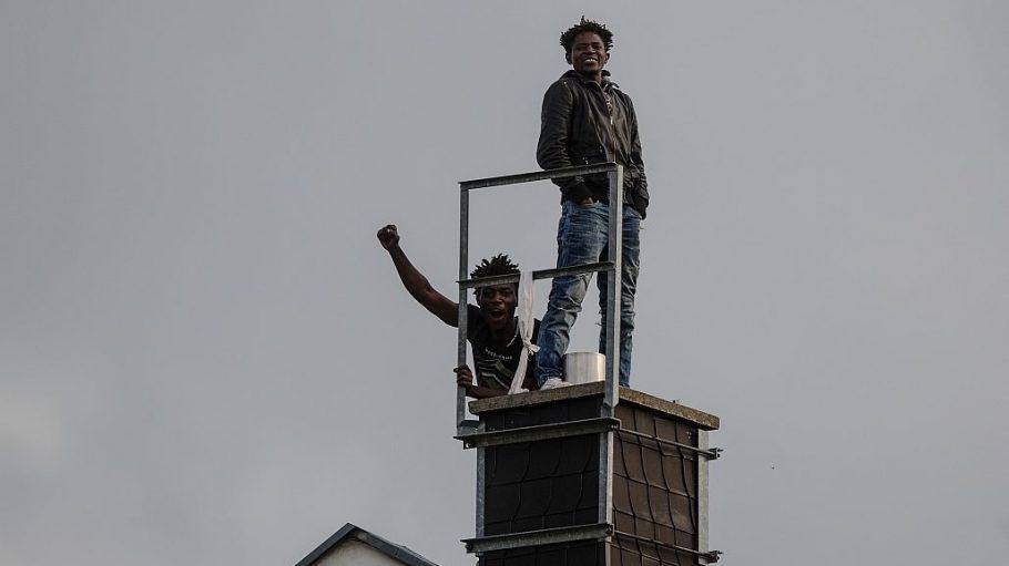 Die Flüchtlinge haben das Dach des ehemaligen Hostels in der Gürtelstraße inzwischen verlassen.