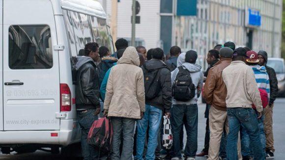 Flüchtlinge in Berlin.