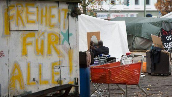 Das Flüchtlingscamp auf dem Oranienplatz wird in diesen Tagen aufgelöst.