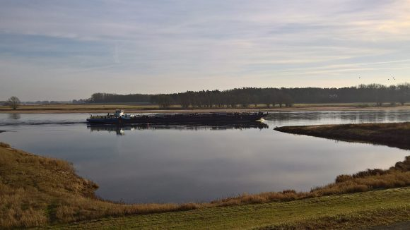 Flussidylle: Blick vom alten Deich auf die Elbe. ©Triantafillou