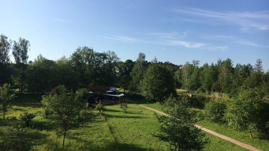 Ausblick auf den Forellenhof Rottstock