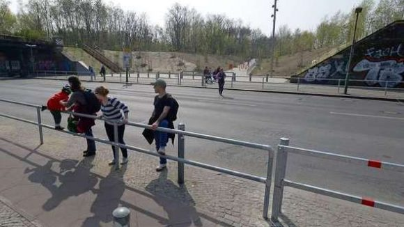 """Bisher war die Querung der Yorckstraße zwischen Flaschenhals- und Ostpark ein gefährliches """"Vergnügen""""."""