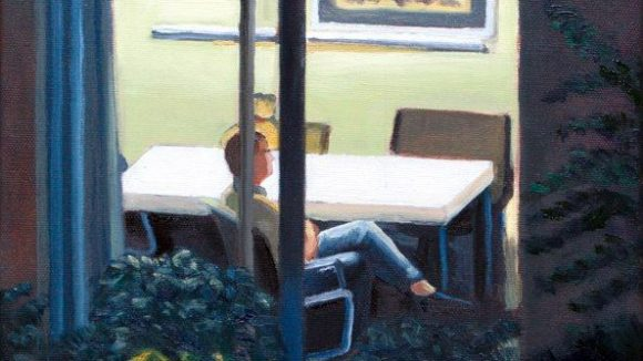 Ganz im Stil des Malers Edward Hopper schaut William Wires durch dieses Fenster.©William Wires