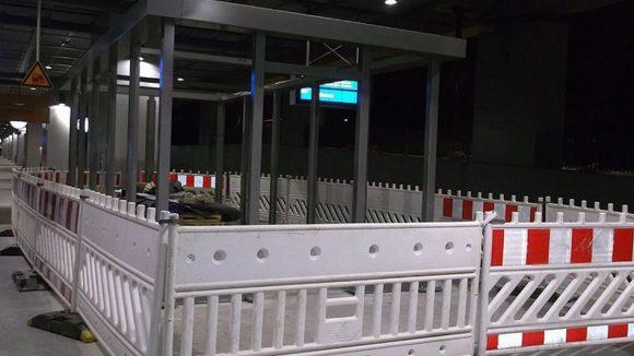 Geschlossener Wartebereich am Südkreuz?