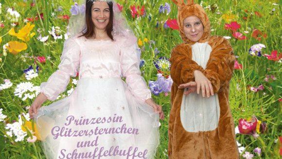 """Eine weitere Erzählung im Repertoire des Zuckertraumtheaters: """"Prinzessin Glitzersternchen und Schnuffelbuffel""""."""