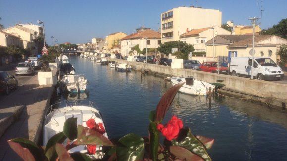 Hafenpromenade von Montpellier.