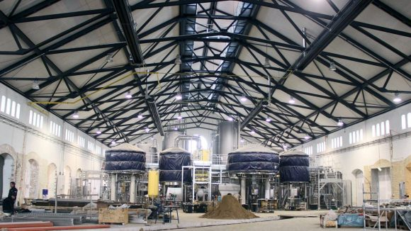 Hier entstehen Gastronomie und Brauerei in einem: Stone Brewing in Mariendorf. ©J.Wernicke