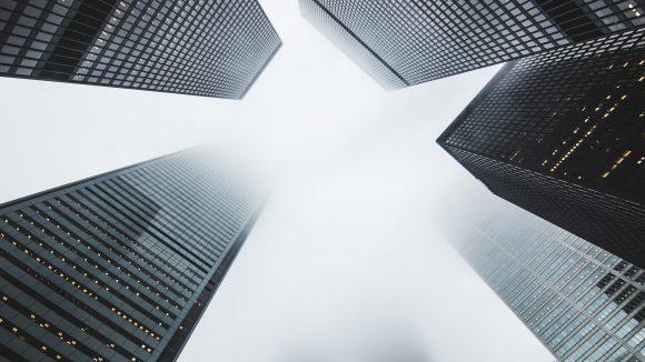 Hochhäuser wie diese im Financial District in Toronto, Kanda, gibt es in Berlin nur selten.