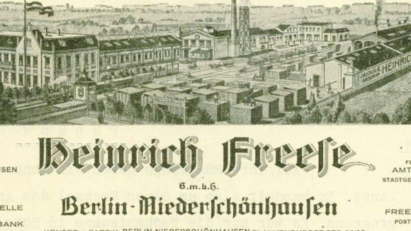 Kontor & Fabrik von Heinrich Freese, 1934 (c) BBWA