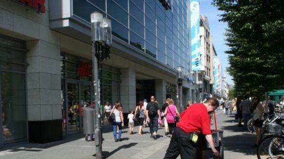 Die Arcaden in der beliebten Shoppingmeile Wilmersdorfer Straße.
