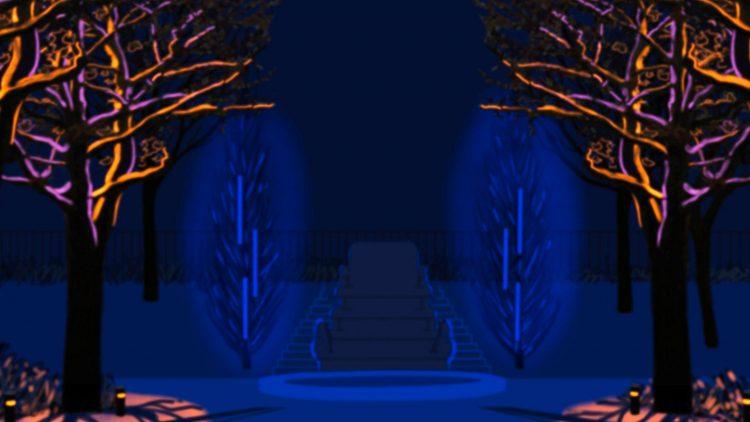 So soll die Lichtinstallation der Künstlerin Karin Albers im Körnerpark aussehen.