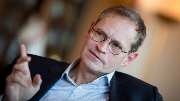 Gern gesehener Gast: Berlins Bürgermeister Michael Müller. Der auch dieses Mal nicht um Fragen zum Flughafen herum kam.