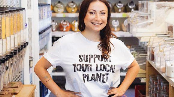 """Mit dem """"Original Unverpackt""""-Laden begann Milena Glimbovskis Gründerkarriere. """"Period.berlin"""" ist schon ihr drittes Start-up."""
