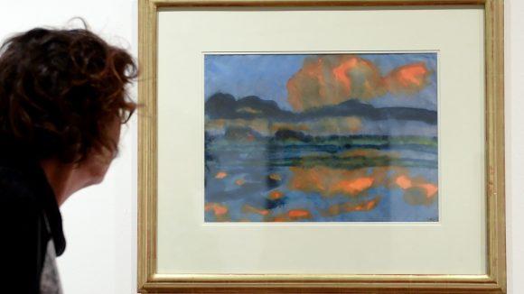"Mit Noldes ""Wolkenspiegelung"" fing alles an. (c) picture alliance / dpa"