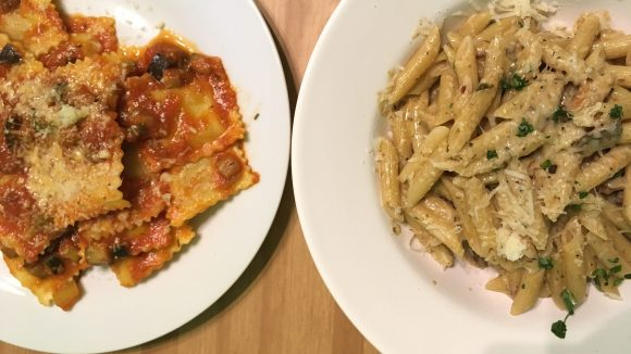 Ob Suppe, Pasta oder Ravioli: das Angebot in der Käseinsel wechselt täglich.