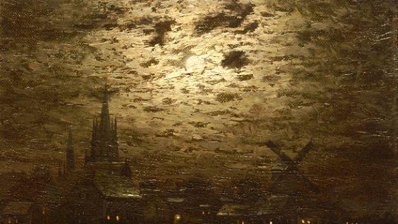 Ernst Lorenz-Murowana - Mondnacht über Werder an der Havel in der Galerie Barthelmess & Wischnewski