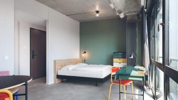 So sieht ein Doppelzimmer im Studentenwohnheim Neon Wood aus. ©Cresco