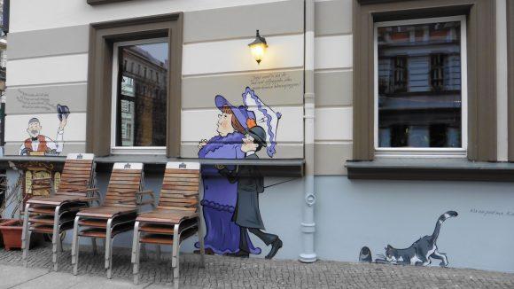 Wandgemälde in Gedenken an Heinrich Zille