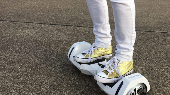 These shoes are made for... Hoverboarding! ©Mareile Morawietz