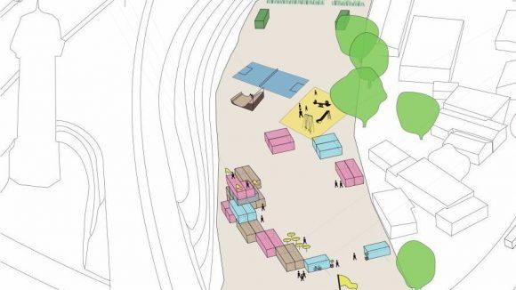 Gärtnern und Co: Entwurf für die Nutzung der Fläche.