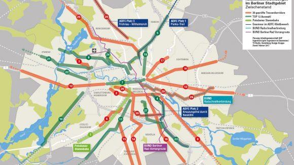 Vorschläge für Radschnellverbindungen: Bis Ende 2017 sollen die genauen Strecken feststehen.
