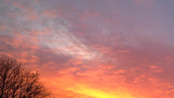 Das ist einer der schönen Sonnenaufgänge.