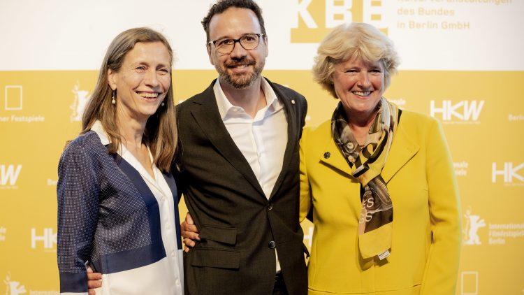 Carlo Chatrian wird künstlerischer Leiter der Berlinale 2020, Marietta Rissenbeek (ganz links) übernimmt das Amit als Geschäftsführerin, so teilte es am Freitagnachmittag Kulturstaatsministerin Monika Grütters (CDU) mit.