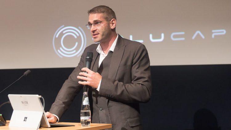 Sven Bliedung, Geschäftsführer von Volucap GmbH, stellt das neue Studio in Babelsberg vor.