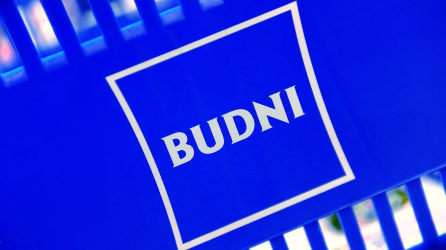 Blaues Logo von Budnikowsky